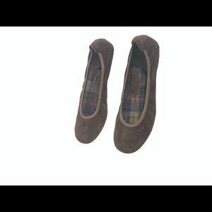 Born Brown Suede Leather Ballet Flats Shoes Sz 8